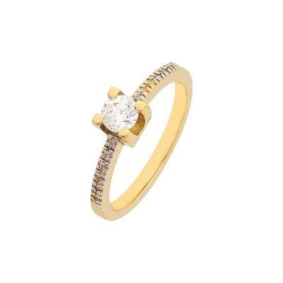 Χρυσό δαχτυλίδι Κ14-Κ9 ΚΛΗ709