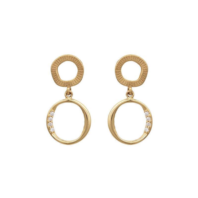 Χρυσά σκουλαρίκια Κ14-Κ9 ΣΝ854