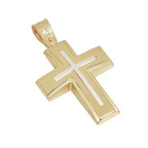 Χρυσός σταυρός Κ14 Τ218
