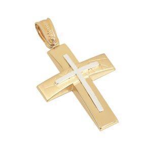 Χρυσός σταυρός Κ14 Τ235