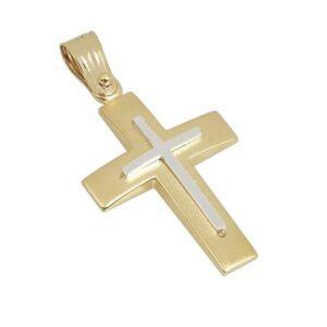 Χρυσός σταυρός Κ14-Κ9 Τ103