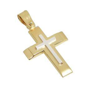 Χρυσός σταυρός Κ14-Κ9 Τ106