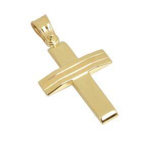 Χρυσός σταυρός Κ14-Κ9 Τ115