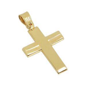Χρυσός σταυρός Κ14-Κ9 Τ113