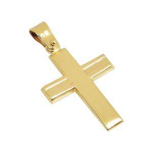 Χρυσός σταυρός Κ14-Κ9 Τ108