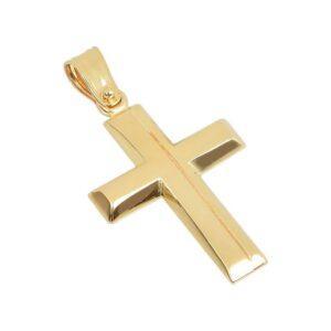 Χρυσός σταυρός Κ14-Κ9 Τ109