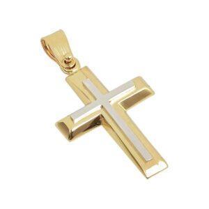 Χρυσός σταυρός Κ14-Κ9 Τ111