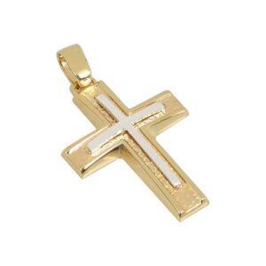 Χρυσός σταυρός Κ14-Κ9 Τ112