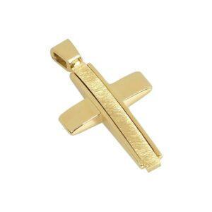 Χρυσός σταυρός Κ14 Τ1
