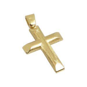 Χρυσός σταυρός Κ14 Τ10