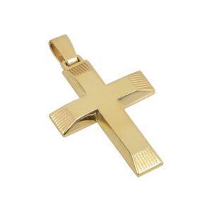 Χρυσός σταυρός Κ14-Κ9 Τ130