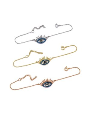 Ασημένιο βραχιόλι μάτι λαλα 04-06-1186