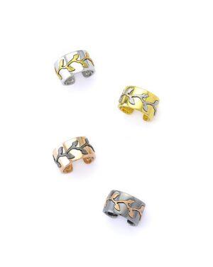 Ασημένιο δαχτυλίδι κλαδί ανάγλυφο 12-04-1434